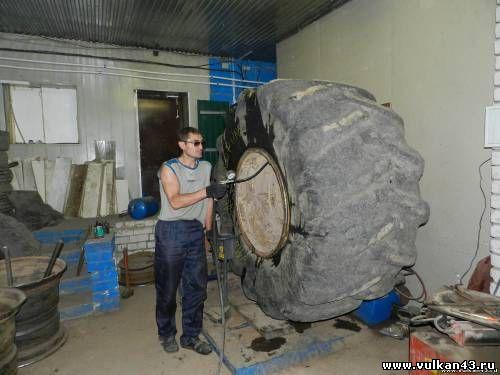 Монтаж/демонтаж сельхоз, крупногабаритных шин